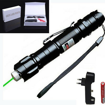 Powerful 1mw 532nm 8000M High Power Green Laser Pointer Light Pen Star Lazer Kit