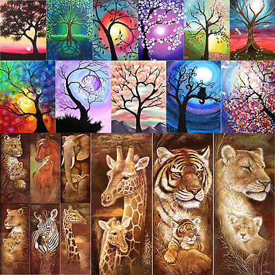 5D DIY Full Drill Diamond Painting Animals Cross Stitch Embroidery Home Decor
