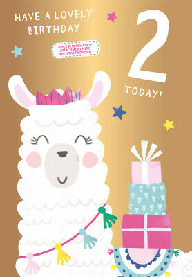 Very Special Granddaughter Goddaughter Niece Sister Daughter 2nd Birthday Card