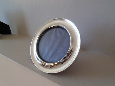Beautiful  Antique 1910 Large Round Recessed  Hallmarked Silver Photo Frame