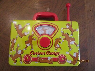 CURIOUS GEORGE SCHILLING TIN MUSIC FAUX RADIO PLAYS THE ALPHABET SONG so CUTE !