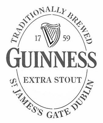 high detail airbrush stencil guinness logo FREE UK POSTAGE