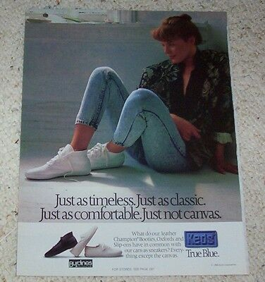 1988 ad page - KEDS Sneakers shoes -true blue- VINTAGE Print Advertising Advert