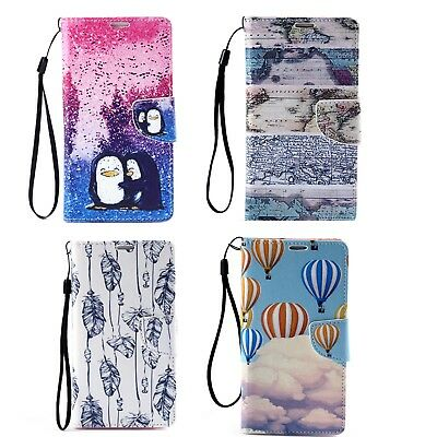 Flip Leather Wallet Phone Case Cover With Strap For Samsung Galaxy S6 S5 S4