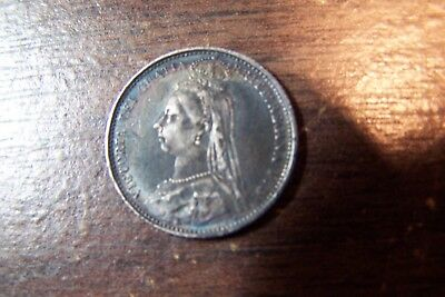 Great Britain 1888 Six Pence Queen Victoria higher circulated Grade