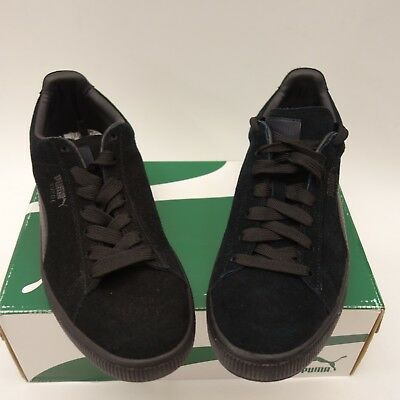 df8626505c2 New Puma Mens Classic Suede Solid Black Lace Up Sneaker Shoes Left 9 Right  9.5