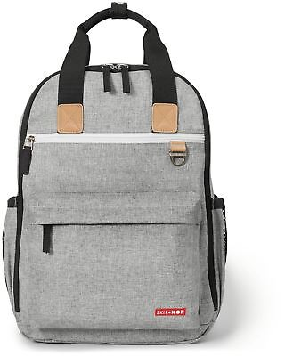 Skip Hop DUO BACKPACK - GREY MELANGE Baby Changing Bag Mummy Backpack - BN