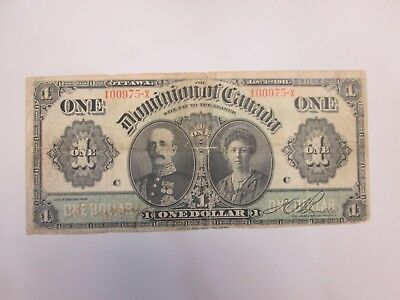 Jan 3Rd 1911 Dominion Of Canada One Dollar Bank Note
