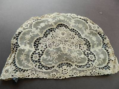 Vintage UNUSED cream Schiffli lace tea cosy cover.