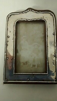 Antique Small Silver Photo Frame