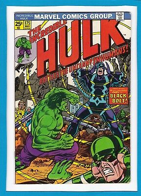Incredible Hulk #175_May 1974_Very Good_Inhumans_Black Bolt_Bronze Age Marvel!