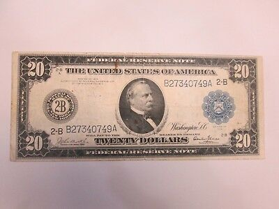 1914 Us $20 Large Size Federal Reserve Note