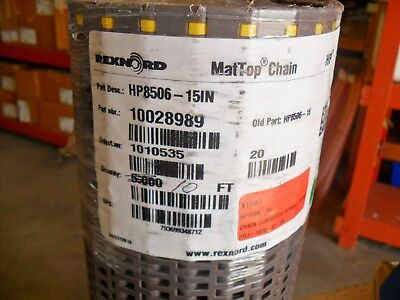 Rexnord MatTop Chain HP8506-15IN x 10FT New