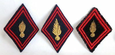 (3) French Army Engineering Center Instructor Officers Gold Bullion Patches