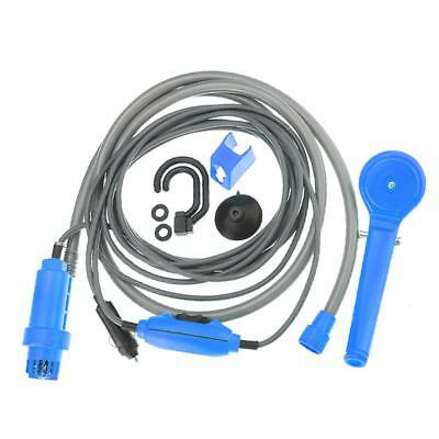 Outdoor Car Washer Shower DC 12V Electric Pump Set for Camping Travel Blue