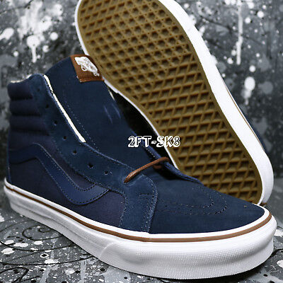 6fb115a594 VANS SK8-HI SLIM Zip Indigo Tropical Blue White Men s Skate Shoes ...