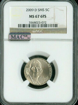 2009-D Jefferson Nickel Ngc Mac Ms67 Fs Sms Pq Low Pop Spotless *