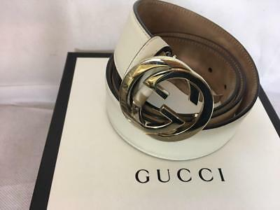 692f63359 AUTHENTIC Gucci double G ladies cream leather belt in original box rarely  worn c
