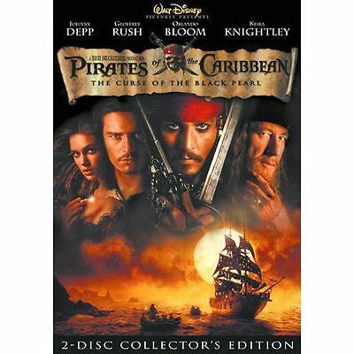 Pirates of the Caribbean: The Curse of the Black Pearl (DVD, 2003, 2-Disc) NEW