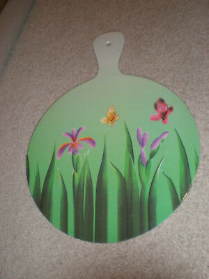 Vintage Hand Fan MADE OF VERY THICK SOLID PLASTIC from Philadelphia, Pa