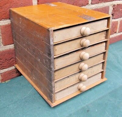 Letterpress Printing Adana Wooden Sectional Typecase Cabinet with 6 small drawer