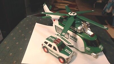 2012 Hess Toy Helicopter & Rescue Truck Vehicle Complete Tested Working