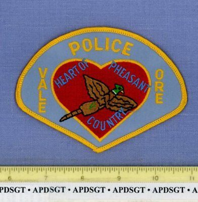 VALE OREGON OR Sheriff Police Patch PHEASANT BIRD HEART OF PHEASANT COUNTRY