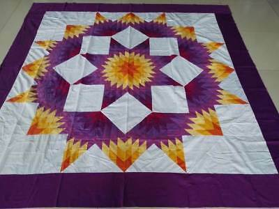Machine Pieced Queen size Patchwork quilt top  #J-109