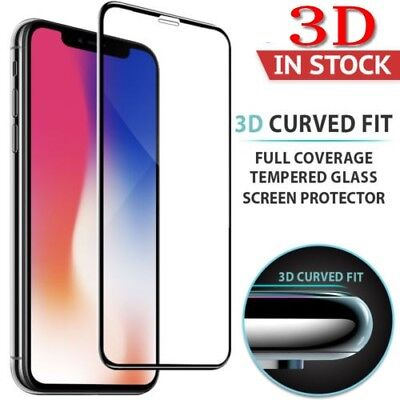 iPhone X XS Max XR 3D Full Cover Tempered Glass Screen Protector Film for Apple