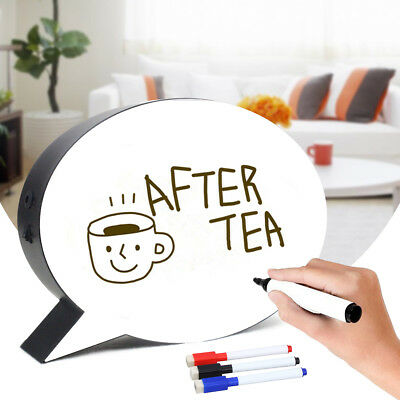 LED Light Up Box Speech Bubble Handwriting Message Sign Party Wedding Home Decor