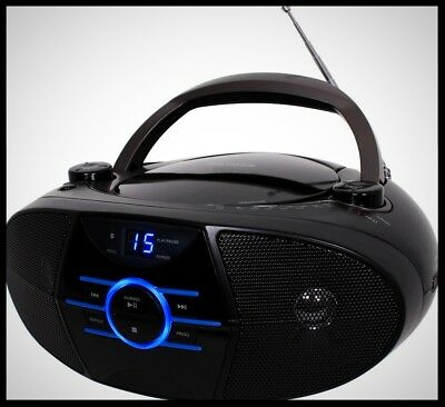 JENSEN Portable Bluetooth Stereo Boombox CD Player AM FM Radio Compact Speaker