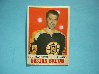 1970/71 O-Pee-Chee Nhl Hockey Card #138 Don Marcotte Rookie Ex/nm Sharp!! Opc