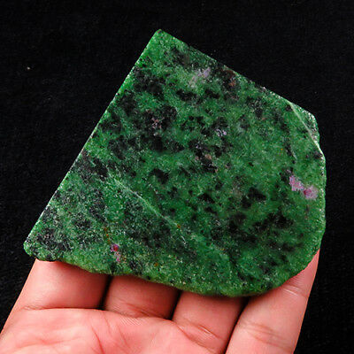 447.6Ct 100% Natural Red Green Bi Color Ruby In Zoisite Rough Specimen YGB65