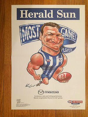 Brent (Boomer) Harvey Most Games 427 North Melbourne Herald Sun Poster