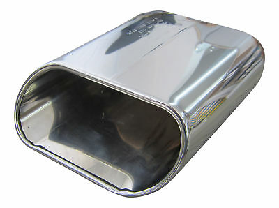Inlet 1 31/32in 1x Premium Stainless Steel End Pipe Oval Genuine Quality