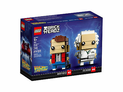 LEGO BRICK HEADZ 41611 Back to the Future Marty McFly Doc Brown 240pcs FIGURE
