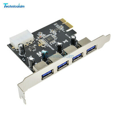 4 Port PCI-E to USB 3.0 HUB PCI Express Expansion Card Adapter 5 Gbps Speed Top