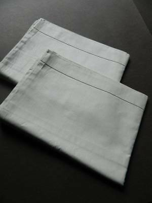 Pair vintage UNUSED white cotton pillowcases.  Envelope closure.