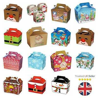 Childrens Boys Girls Christmas Present Kids Gift Box Xmas Party Food Lunch Boxes