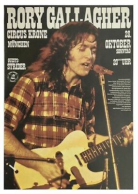 Rory Gallagher 1973 Circus Krone Bau Munich Concert Poster