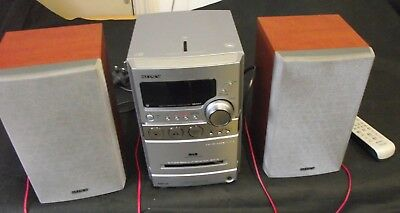 Sony Cmt-Ne27 Dab Stereo Hi-Fi System With Speakers ~ Cassette Player