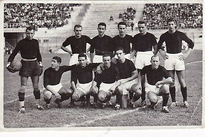 Calcio/Football Cartolina sq. MILAN 1940-'41 originale