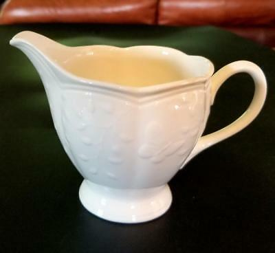Lenox China  Butterfly Meadow Cloud Creaner Embossed Butterflies White