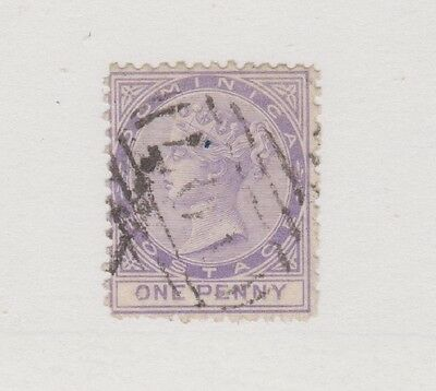 DOMINICA 1 1p violet 1874 Queen Victoria used