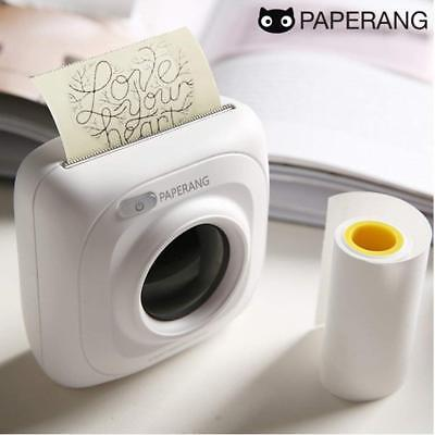 Portable Mini Pocket Wireless Bluetooth Paper Photo Printer USB Charging White