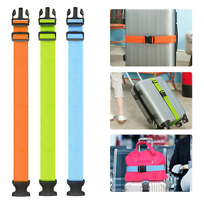 Adjustable Travel Luggage Packing Suitcase Strap Baggage Backpack Bag Strap Belt