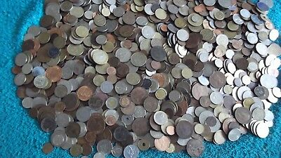 JOB LOT OF APPROX 6 KGS OF WORLD COINS  FREE POSTAGE 99p  F 6.1