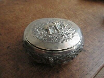 Antique Indian Silver Lidded Box