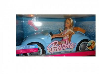 Barbie Beach Glam cruiser car & doll gift set 2006 Rare HTFN BNIB