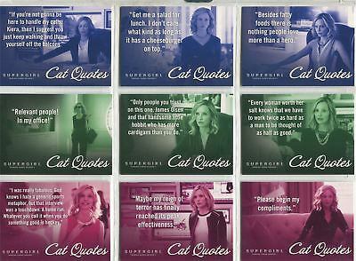 Supergirl Season 1 Complete Cat Quotes Chase Card Set CQ01-09